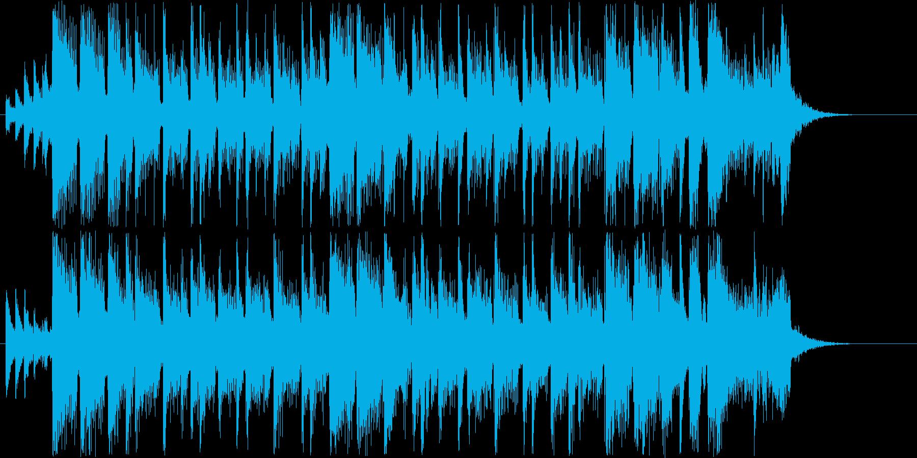 華やかなシンセサウンド短めの再生済みの波形