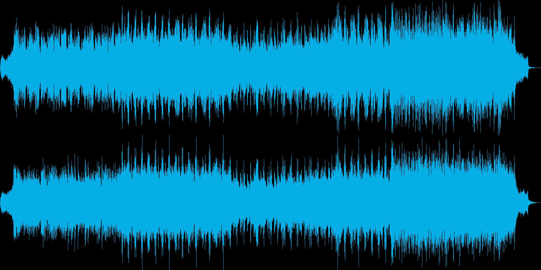 和風で神秘的、琴笛和太鼓をストリングス曲の再生済みの波形