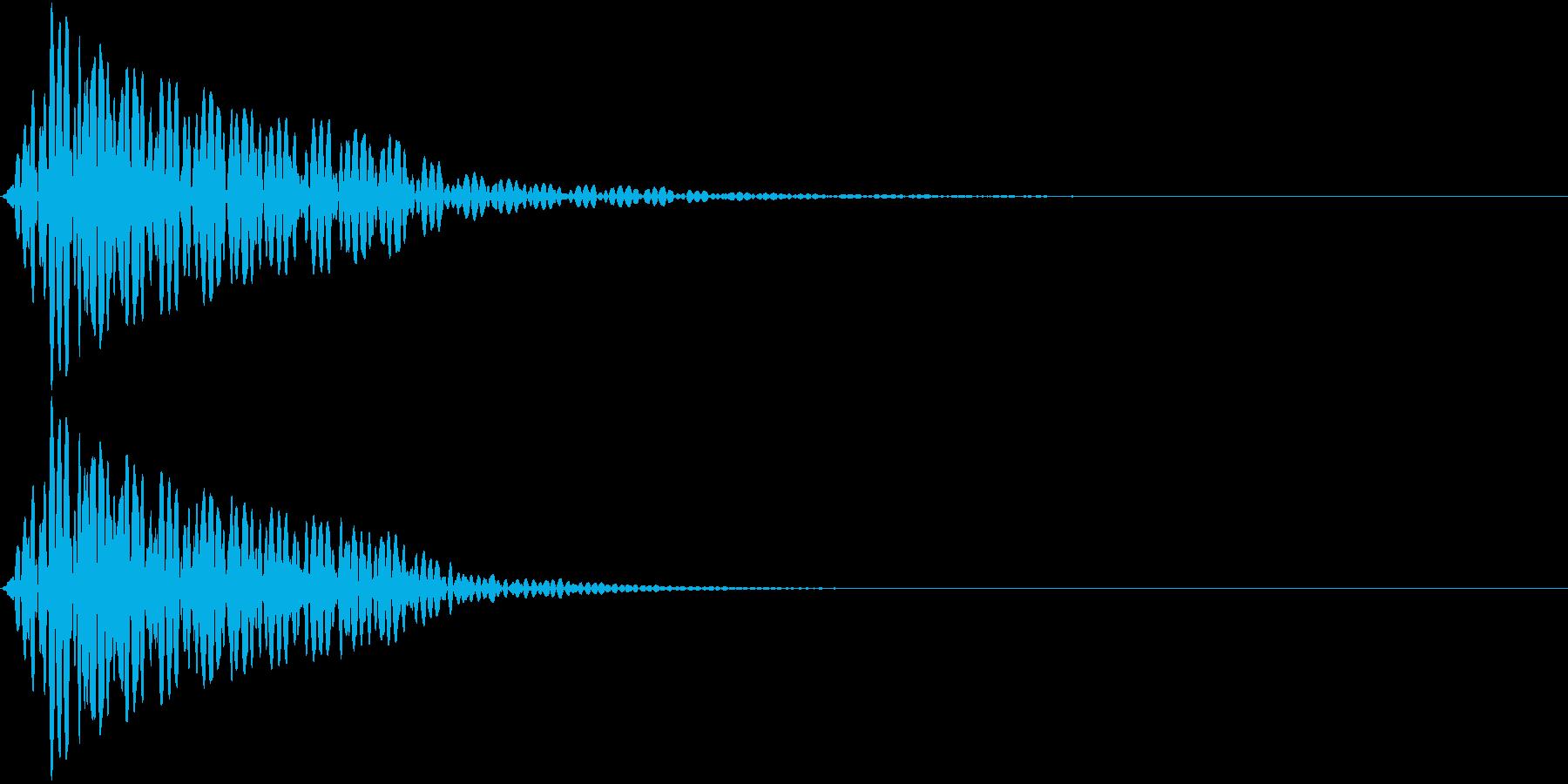 App 警告音 エラー音 ブッ!の再生済みの波形