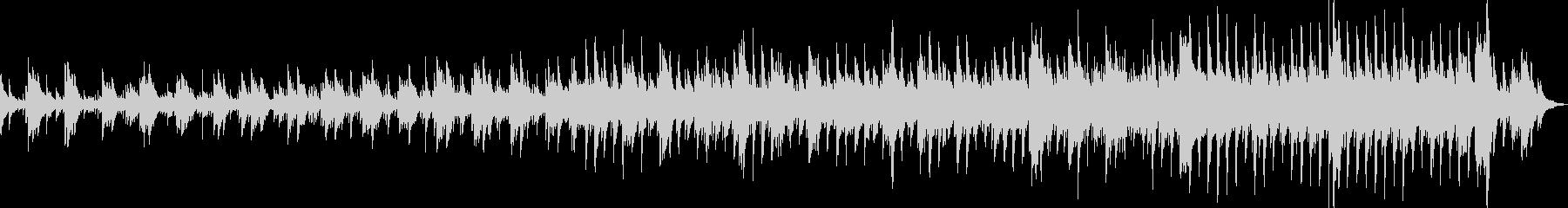 ピアノのシンプルな優しい曲の未再生の波形