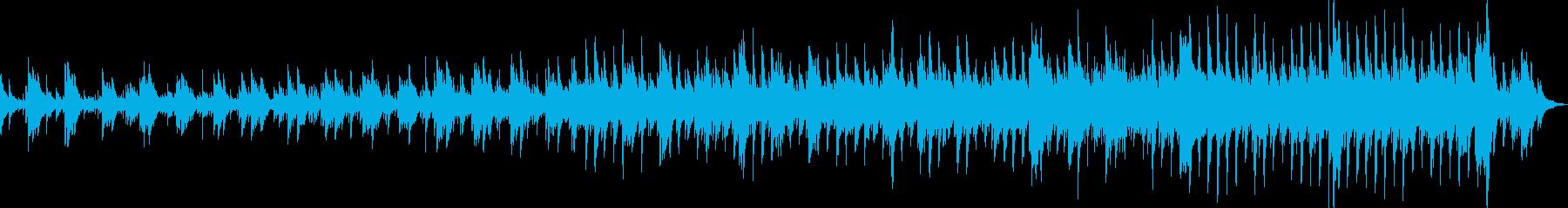 ピアノのシンプルな優しい曲の再生済みの波形