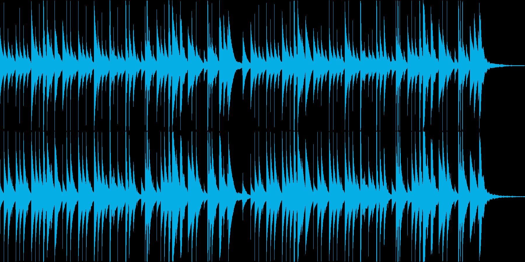 夕方を連想させるオルゴール曲の再生済みの波形