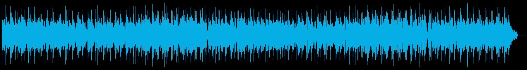 ゆったりとしたピアノバラードの再生済みの波形