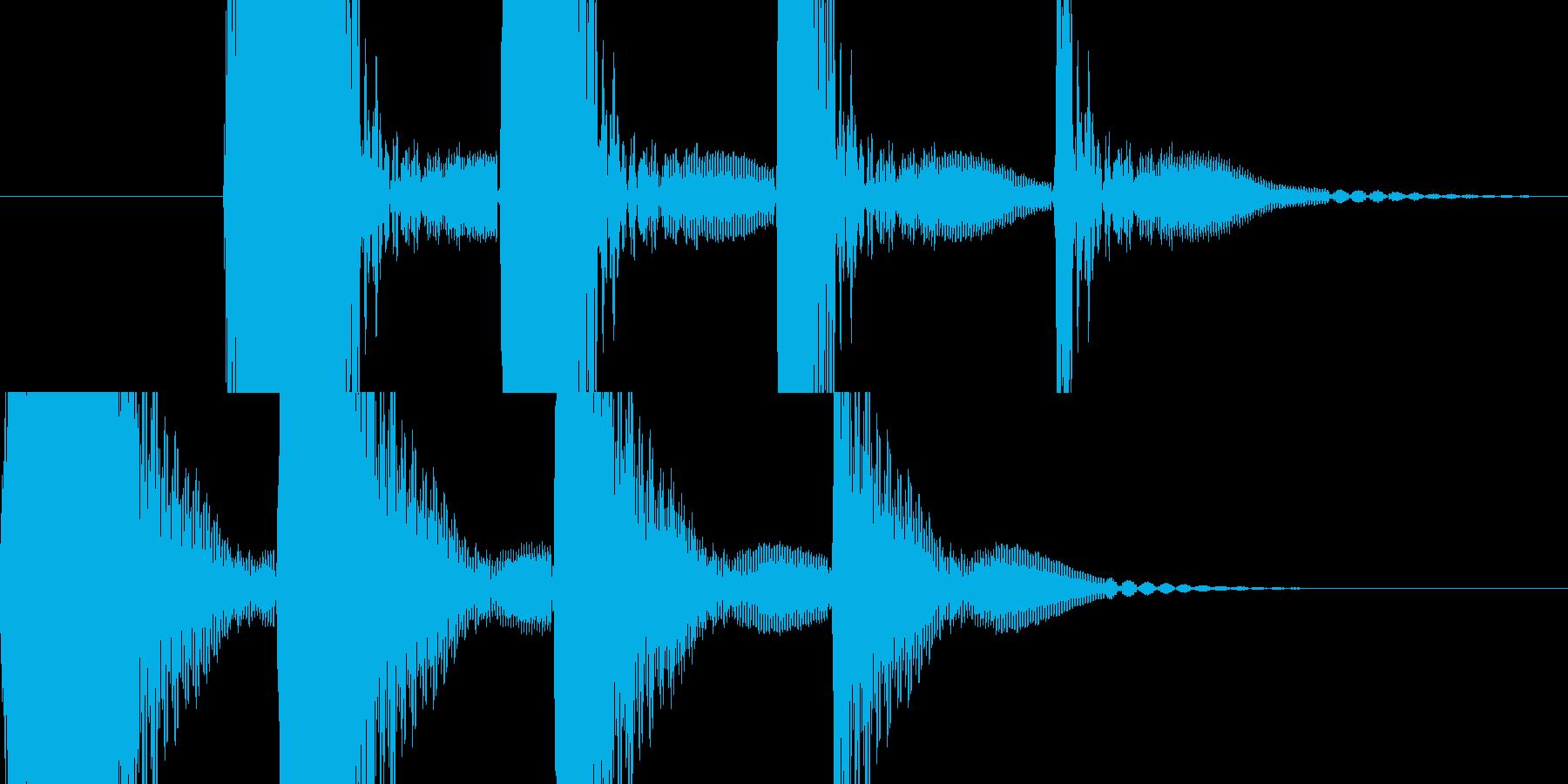 ポコの連音の再生済みの波形