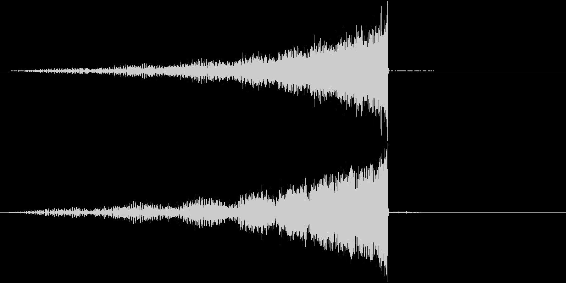 物体が迫り来る音の未再生の波形