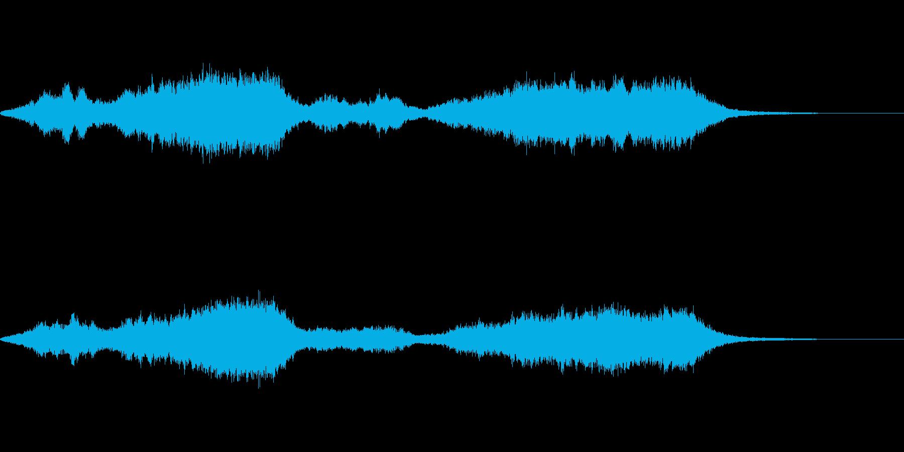 目覚めを促す感じの再生済みの波形
