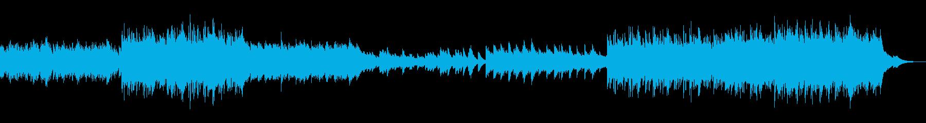 繊細で透明感のある映像向けBGMの再生済みの波形