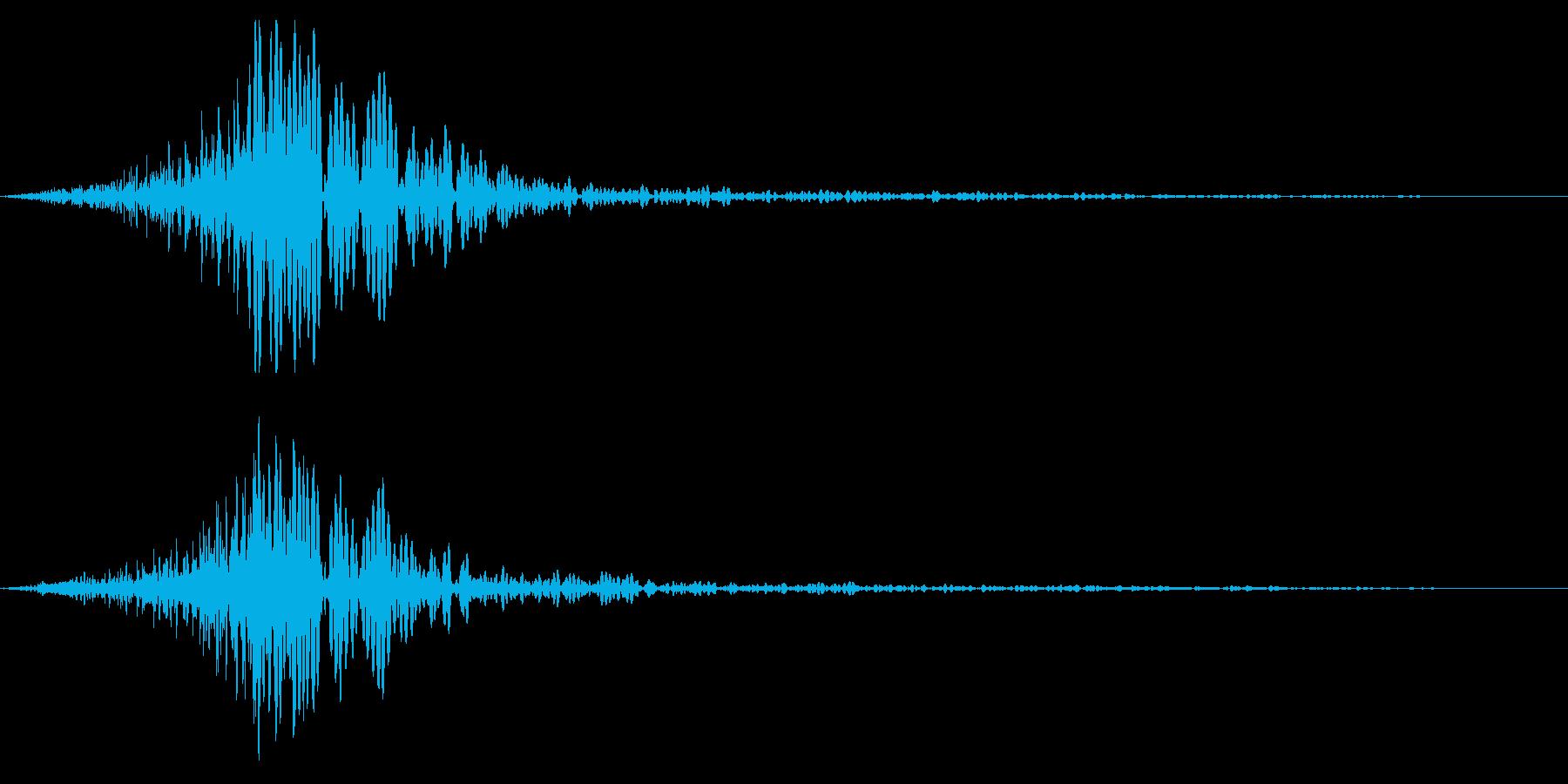 ホラー系アタック音93の再生済みの波形