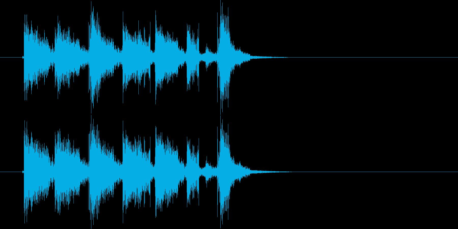 パッパッパッパッ!ヒップホップなジングルの再生済みの波形