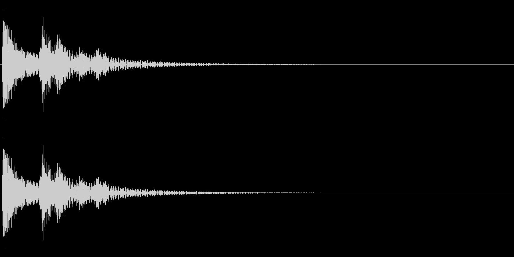 テロンーの未再生の波形
