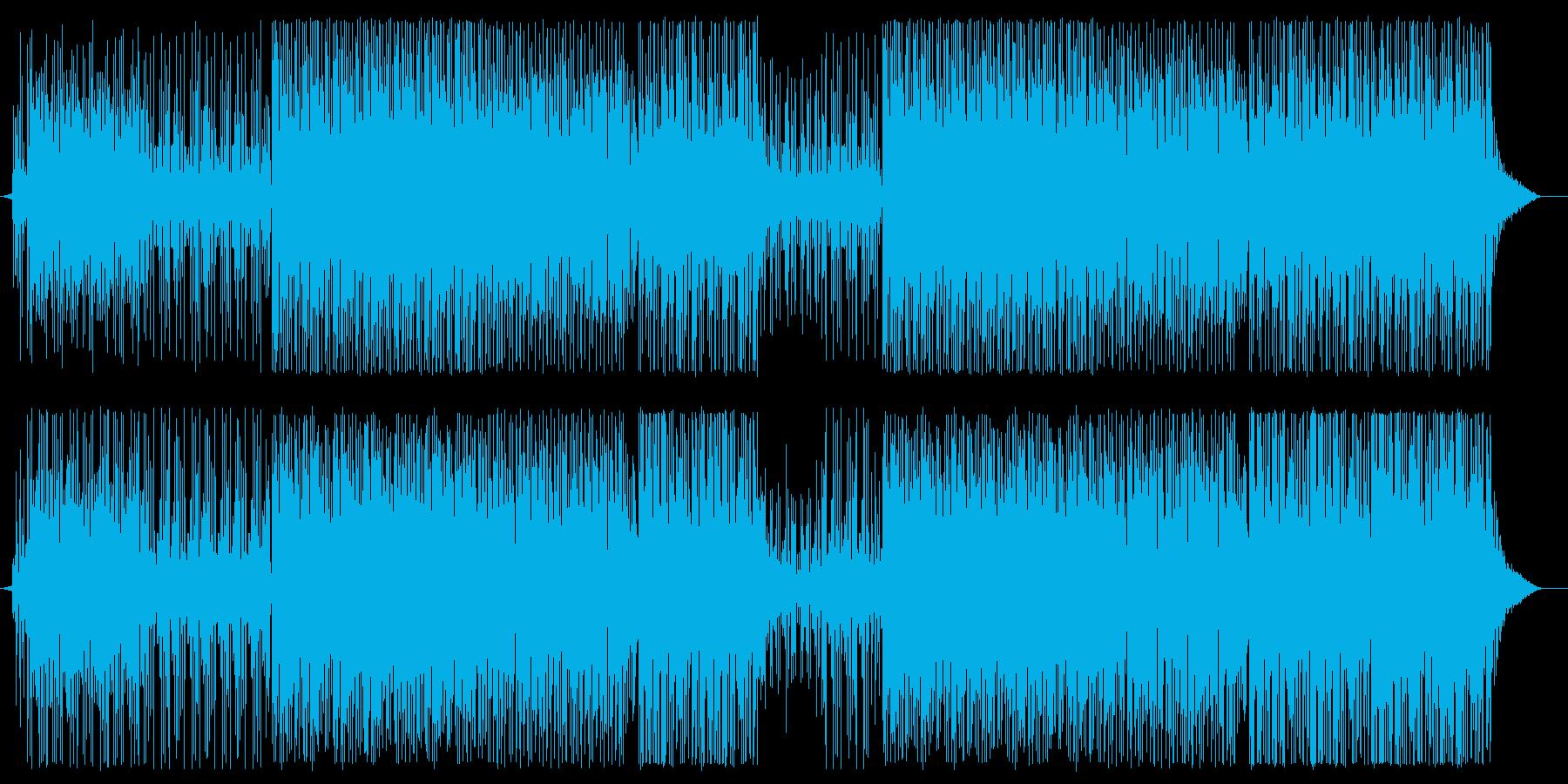 スピーディーで軽快なテクノポップサウンドの再生済みの波形