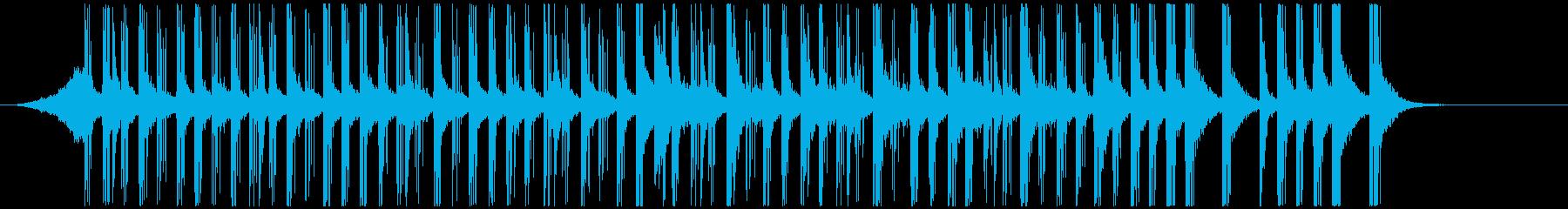 ドラムと手拍子ジングル明るい疾走感(短)の再生済みの波形