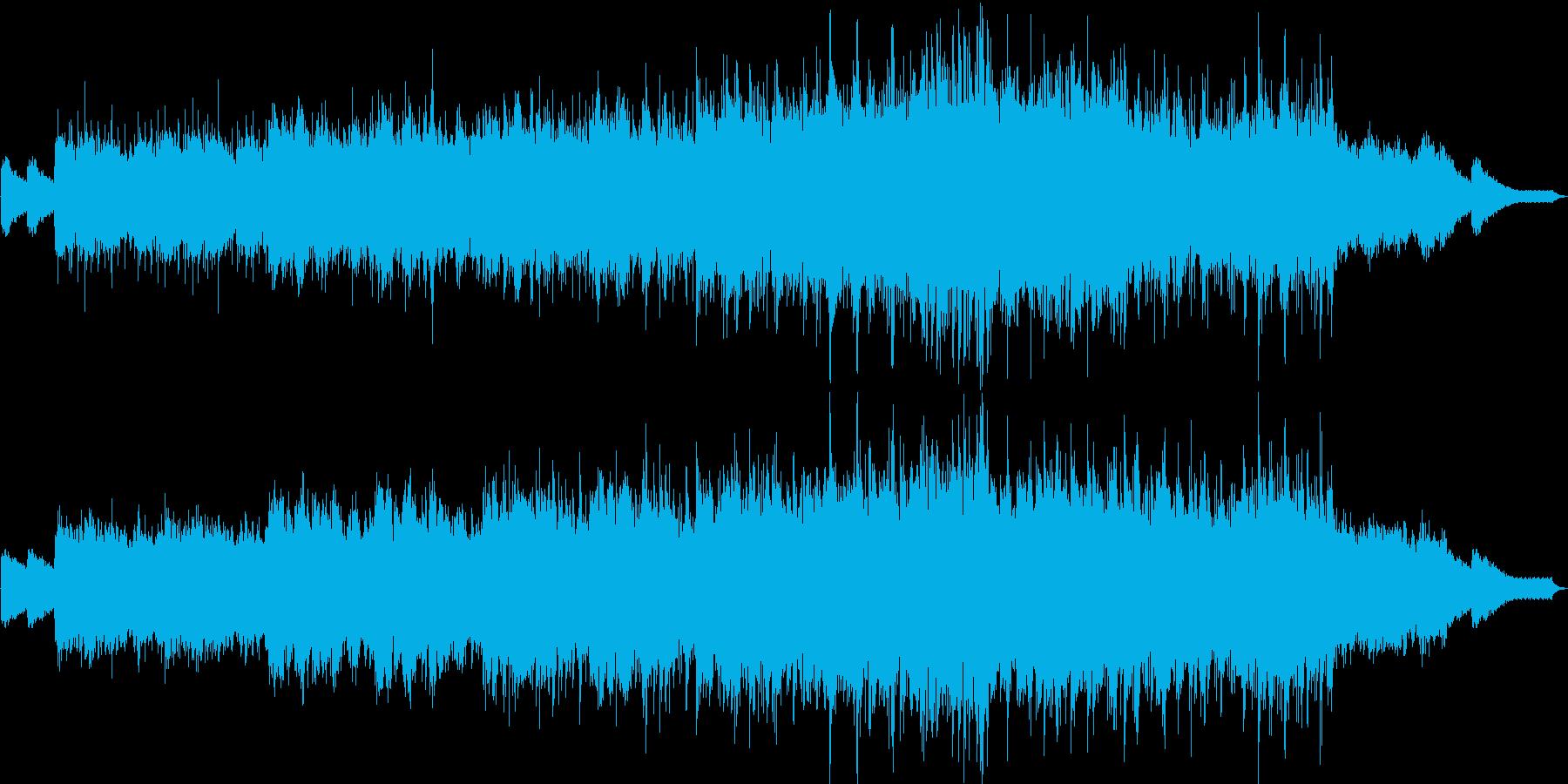 民族楽器とシンセサイザーの爽やかな楽曲の再生済みの波形