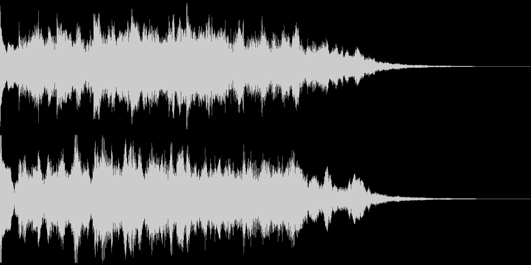 サウンドロゴ、5秒CM、場面転換verFの未再生の波形