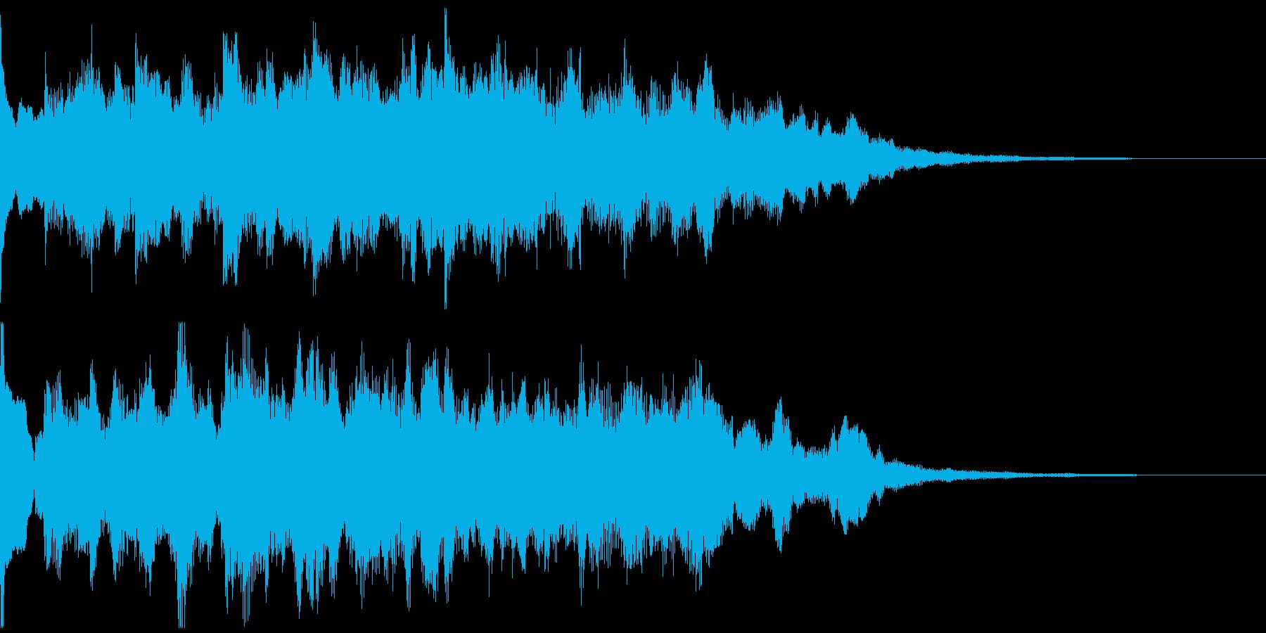 サウンドロゴ、5秒CM、場面転換verFの再生済みの波形