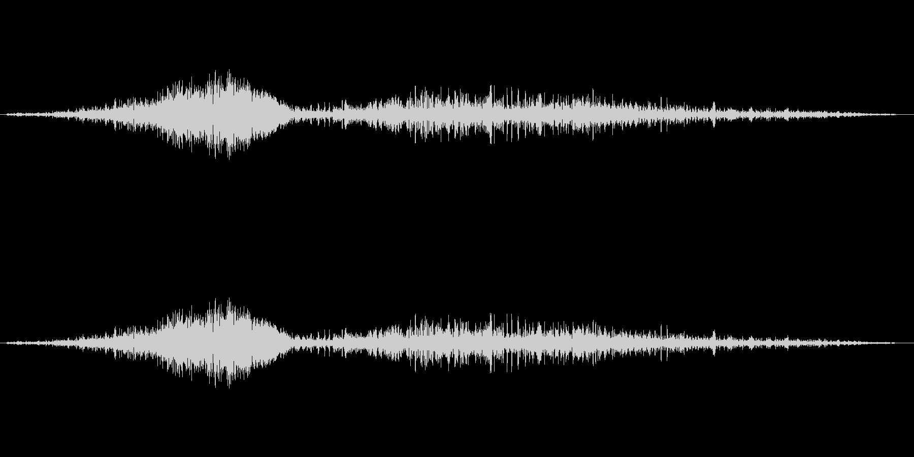 しゅー、しゅるるの未再生の波形