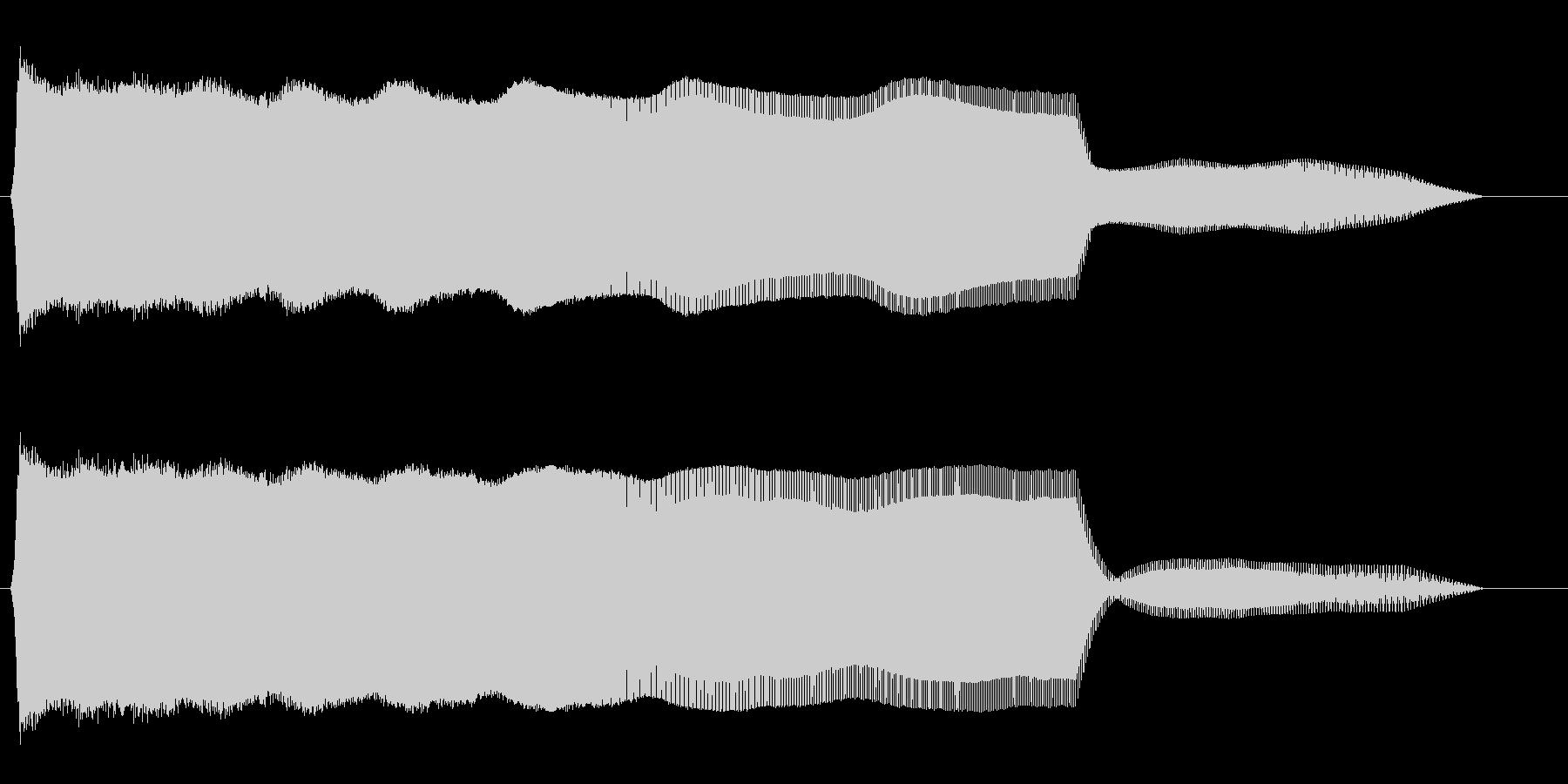 ピューーン↓(長めの飛行音)の未再生の波形