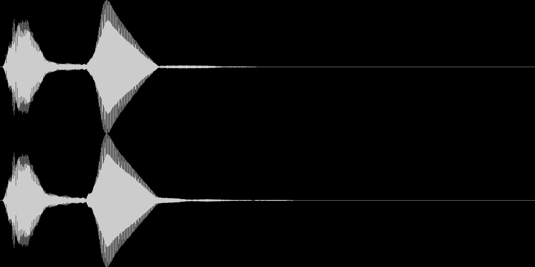 パフ。パフパフラッパC(高・単発)の未再生の波形