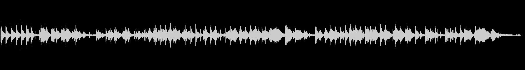 静かなヒーリング・ピアノ曲スタインウェイの未再生の波形