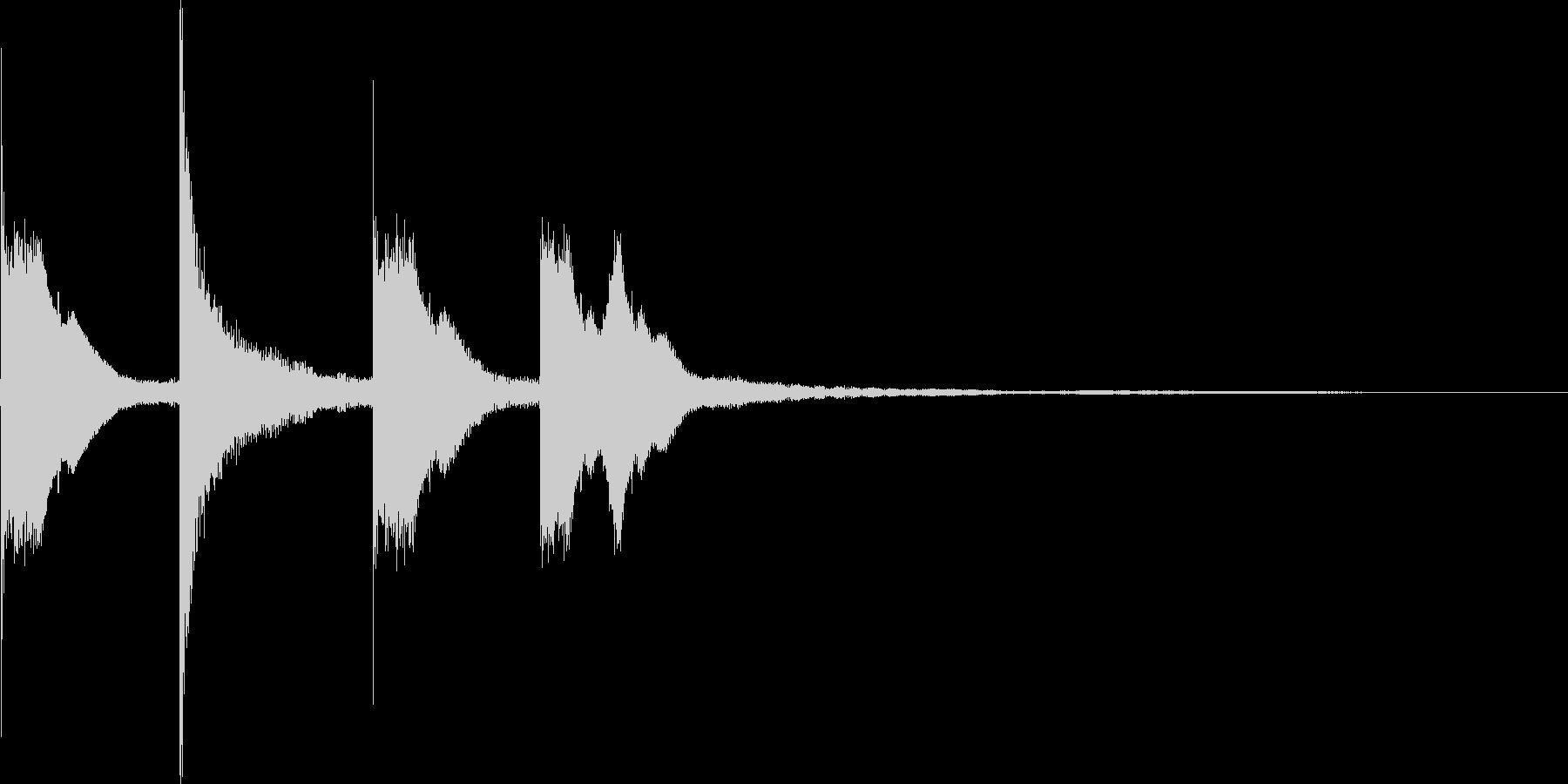 ピコピコンの未再生の波形