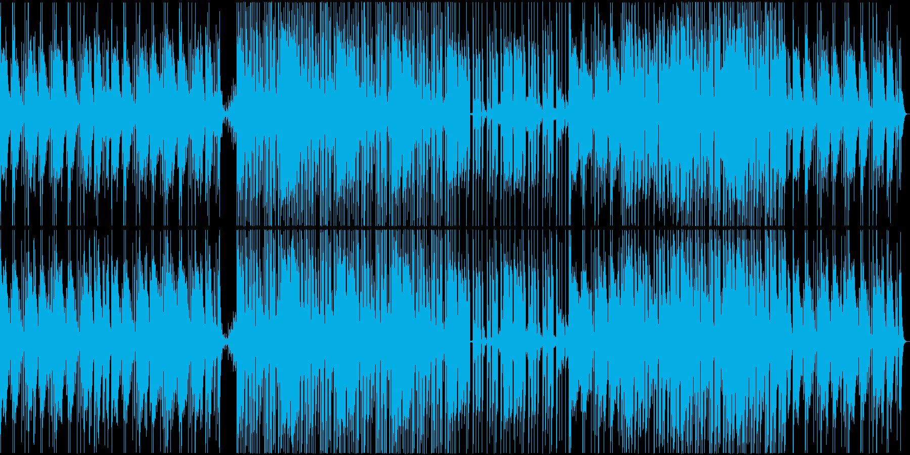 勇壮な和太鼓が響く和風楽曲の再生済みの波形