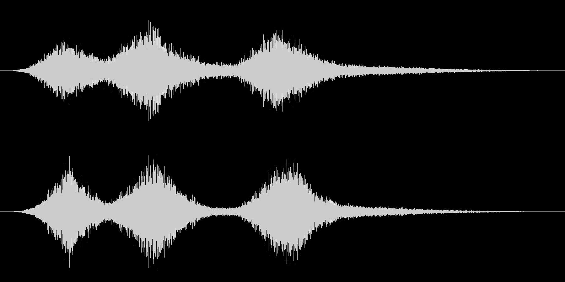 波の音(シンセ音)の未再生の波形