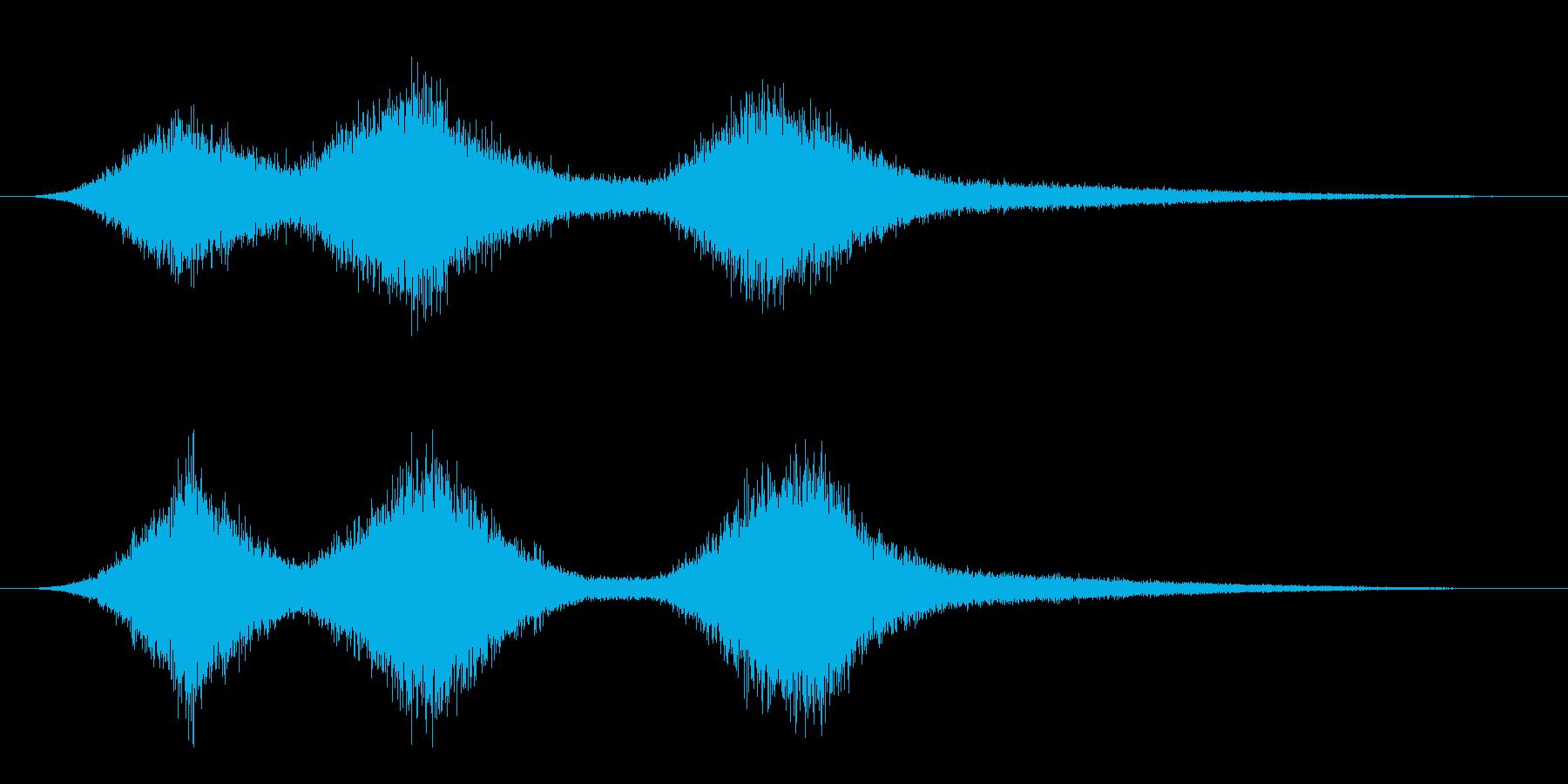 波の音(シンセ音)の再生済みの波形