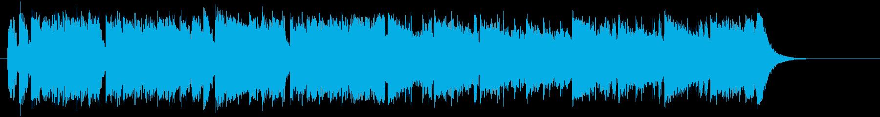 シンセによる軽快なポップミュージックの再生済みの波形