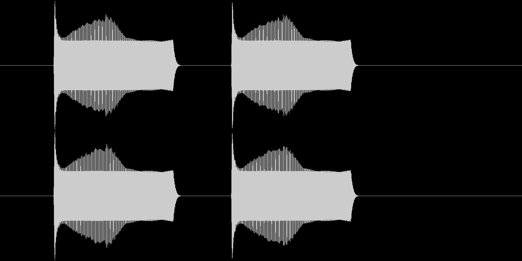 ポヨンポヨンとジャンプする音(2回)の未再生の波形