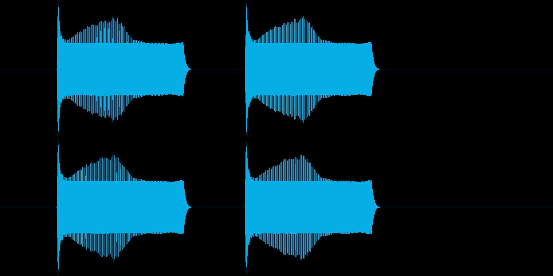 ポヨンポヨンとジャンプする音(2回)の再生済みの波形