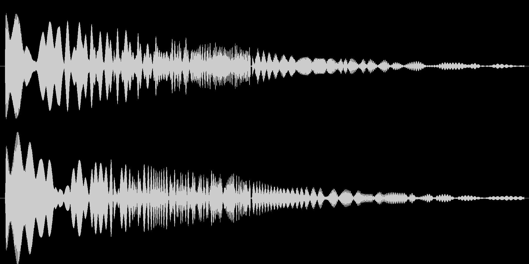 ぴよぴよピューン(ギャグ系)の未再生の波形