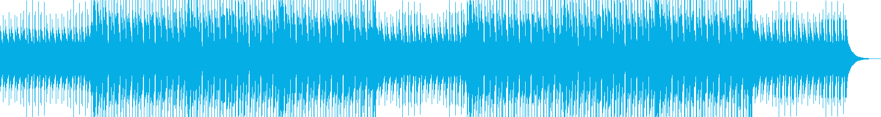 ハッピーなウクレレの企業向けBGMの再生済みの波形
