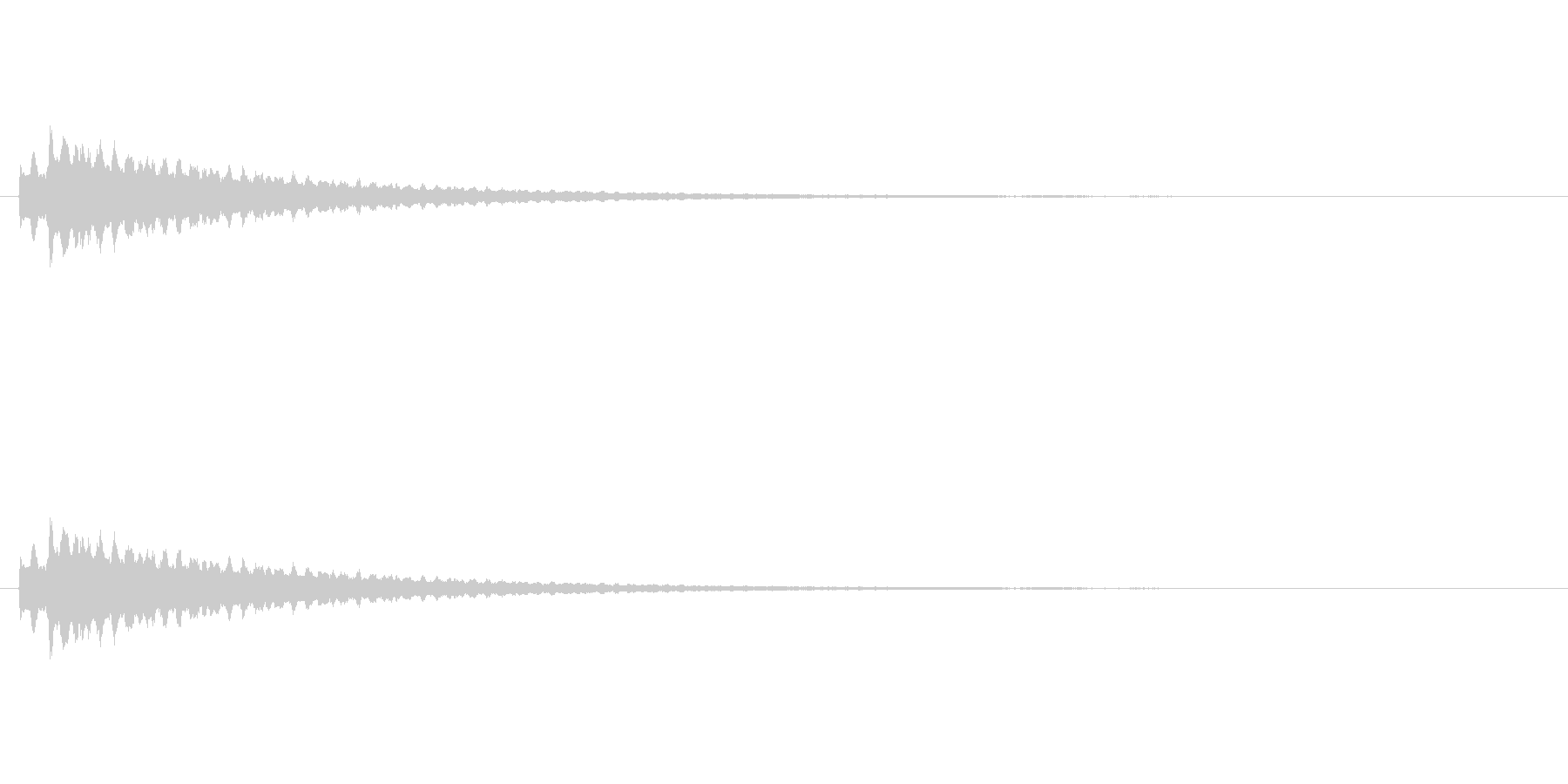 コイン、アイテム獲得 かわいいシンセ音の未再生の波形