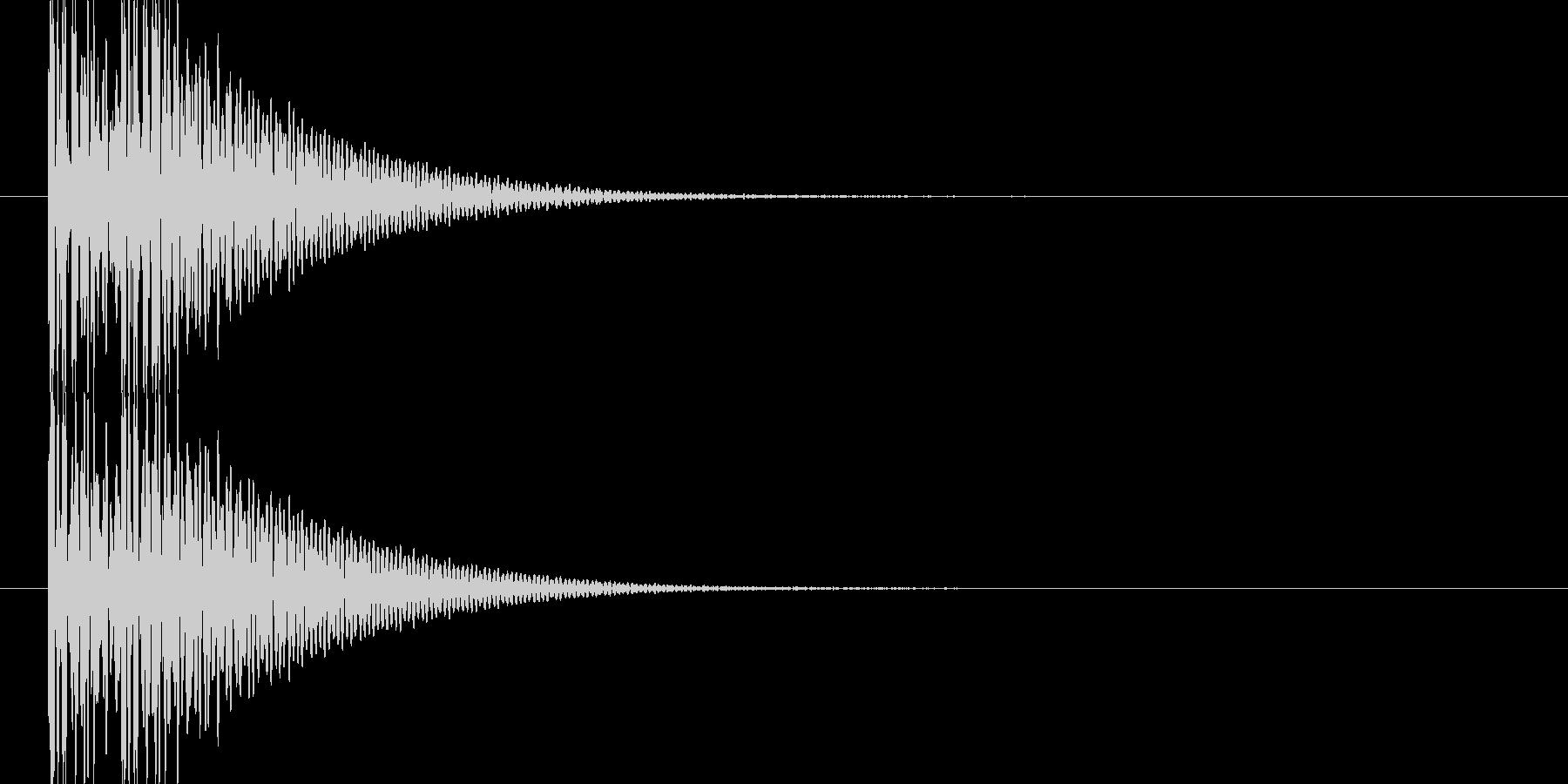 ドンドン(和太鼓)の未再生の波形