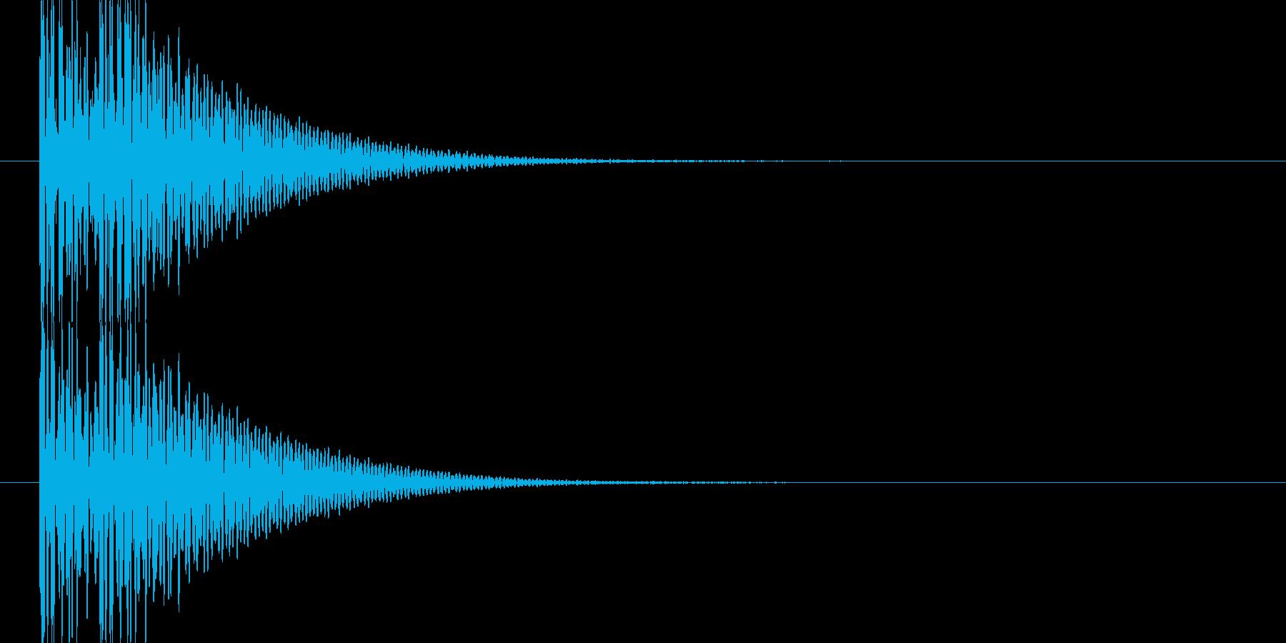 ドンドン(和太鼓)の再生済みの波形