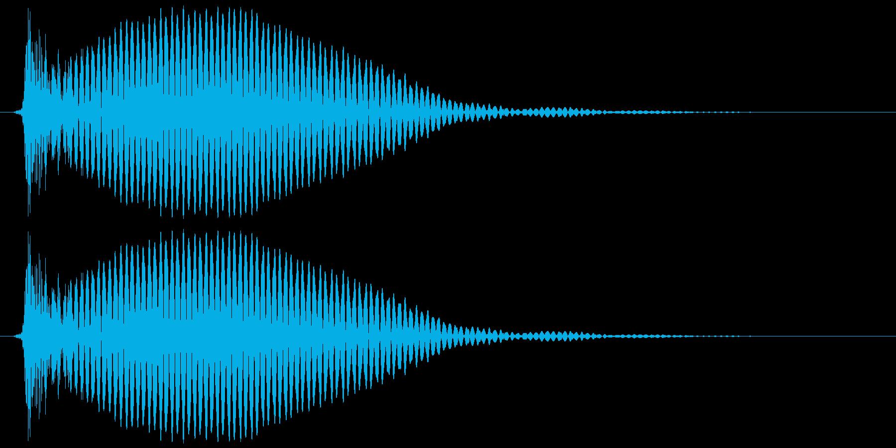 テレビ/ブラウン管 点灯カッ、ブオオンの再生済みの波形