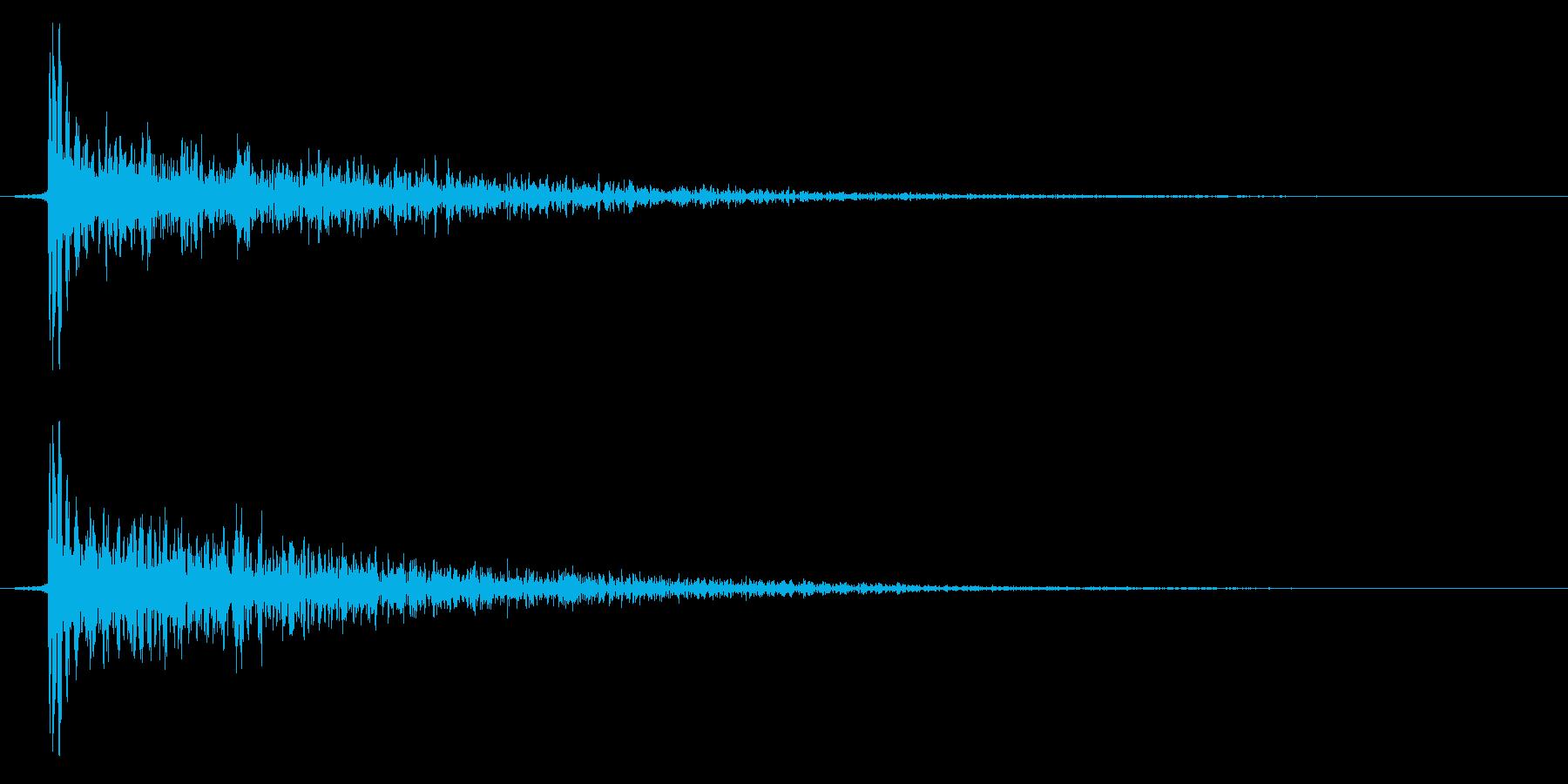 ダン!(叩く系、金物系響き有)の再生済みの波形