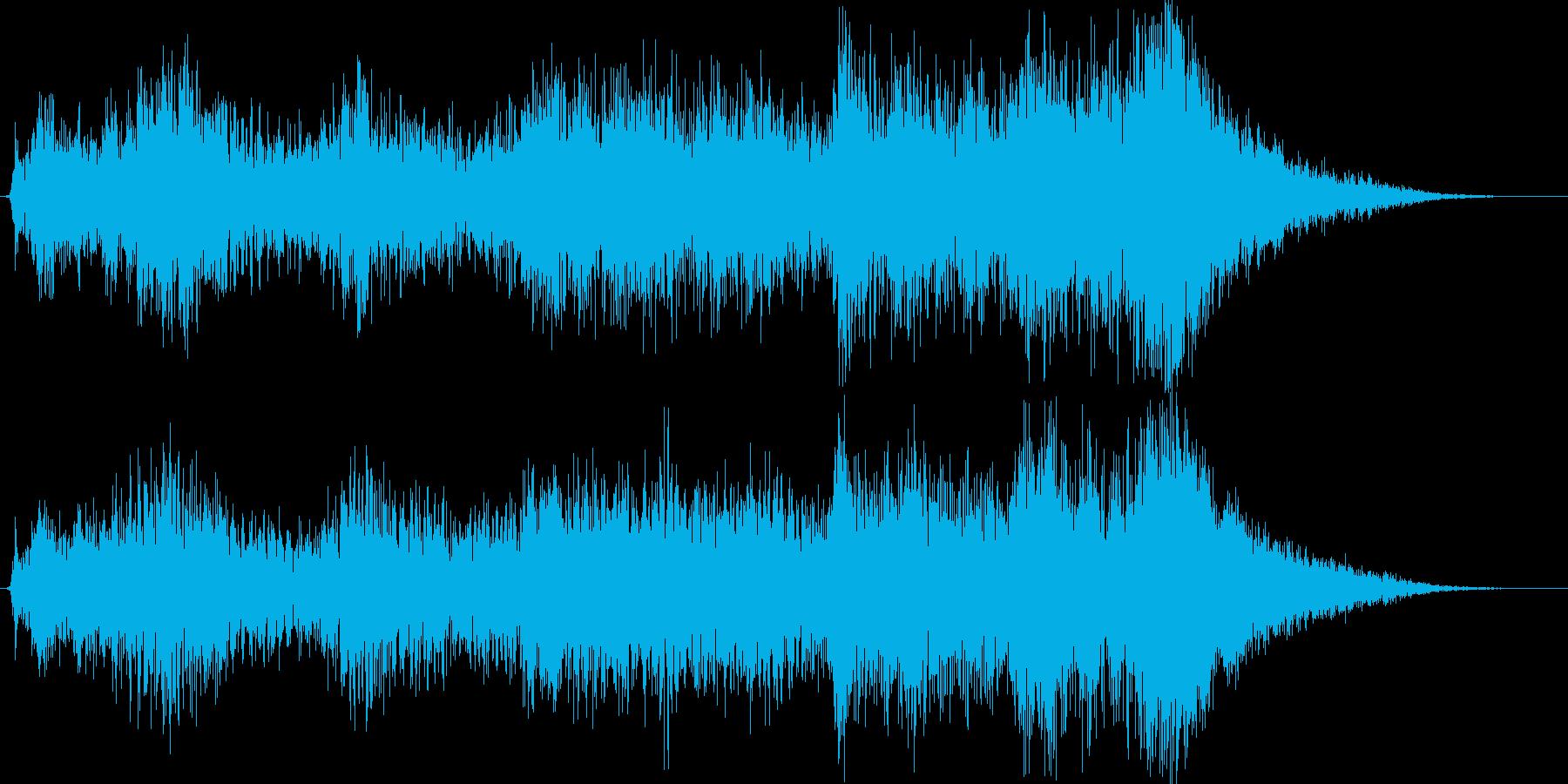 オープニングBGMイメージの再生済みの波形