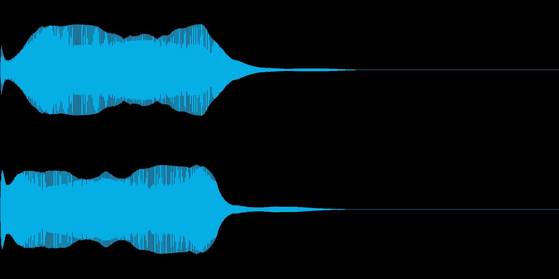 効果音 まぬけなポワーンの再生済みの波形