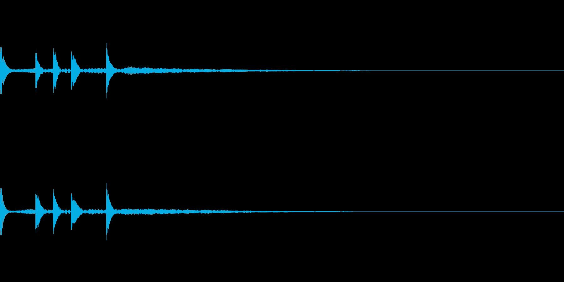 ゲームクリア、レベルアップ、決定音の再生済みの波形