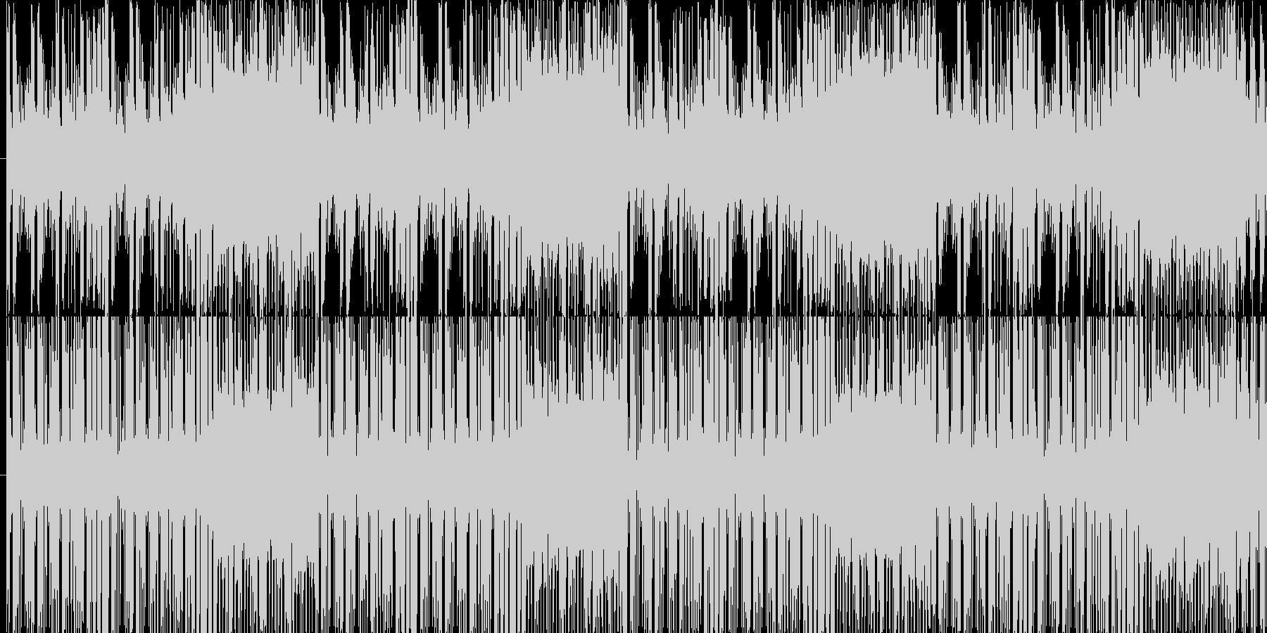 YMO的チャイニーズ調。レトロな雰囲気の未再生の波形
