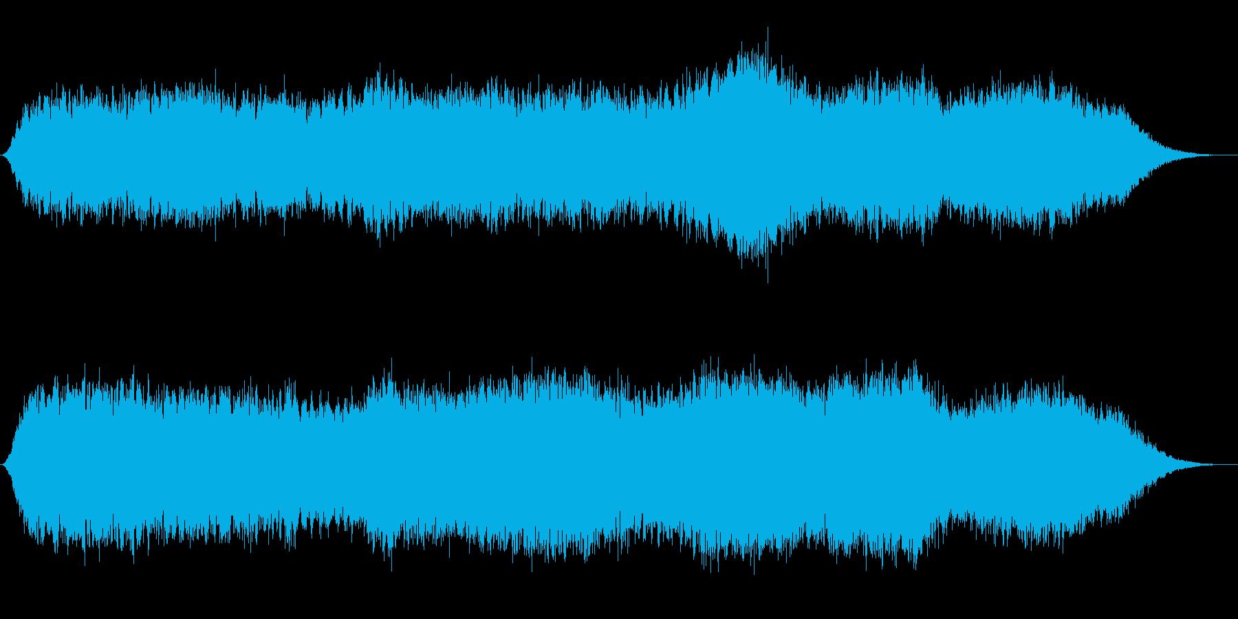 神秘的な雰囲気のアンビエント(背景音7)の再生済みの波形