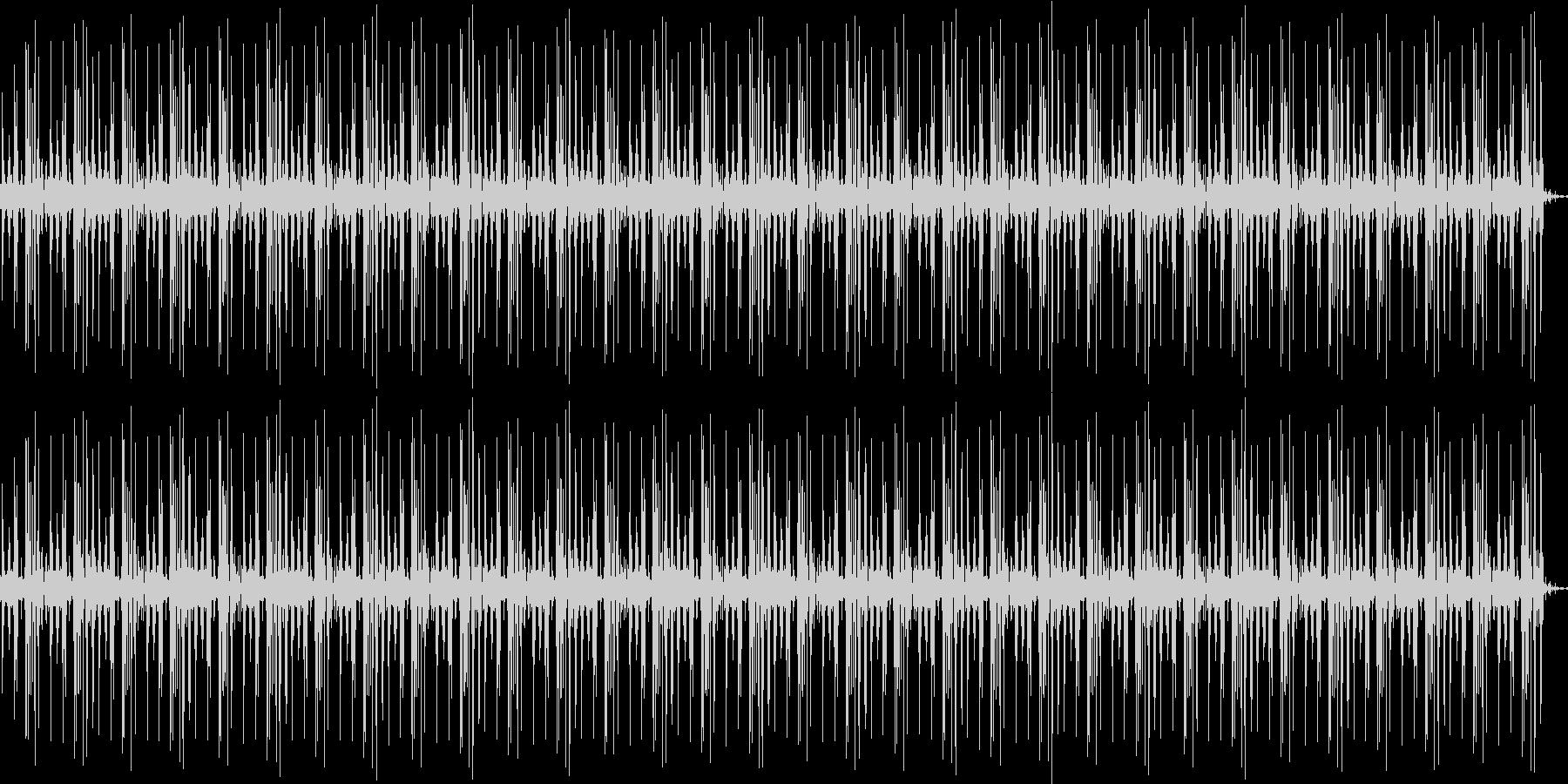 機械音のループの未再生の波形