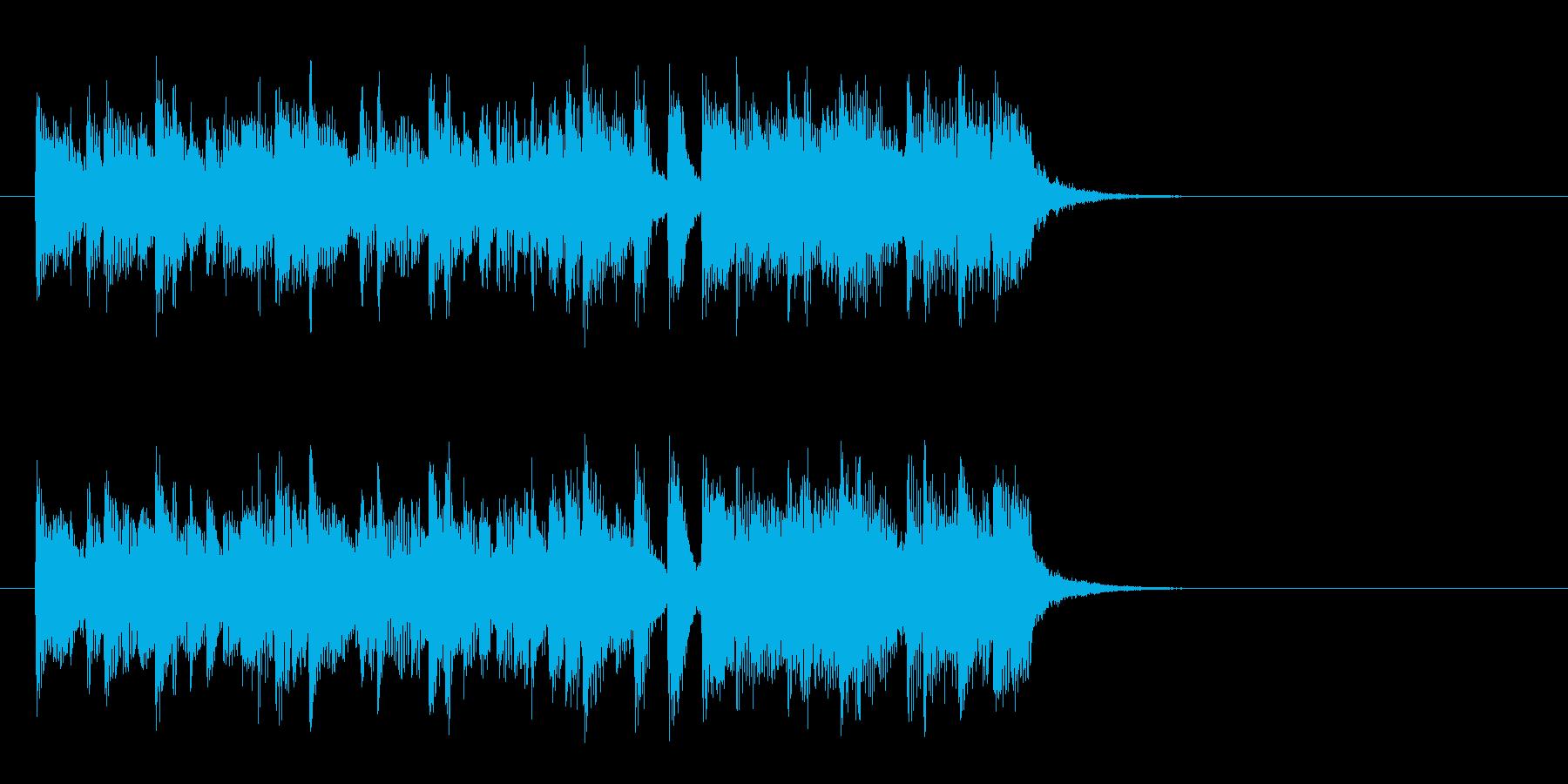 爽やかで優しいポップス(イントロ)の再生済みの波形