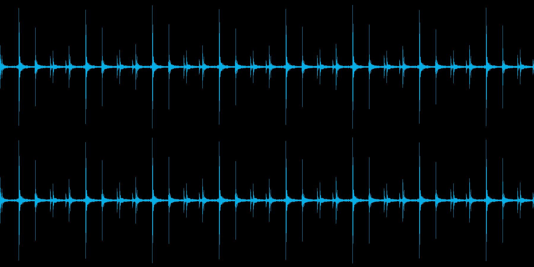 かつかつ(足音)の再生済みの波形