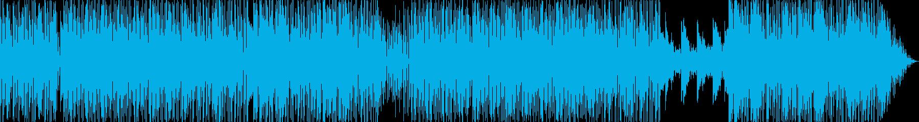 ラテン系の楽しいEDMの再生済みの波形
