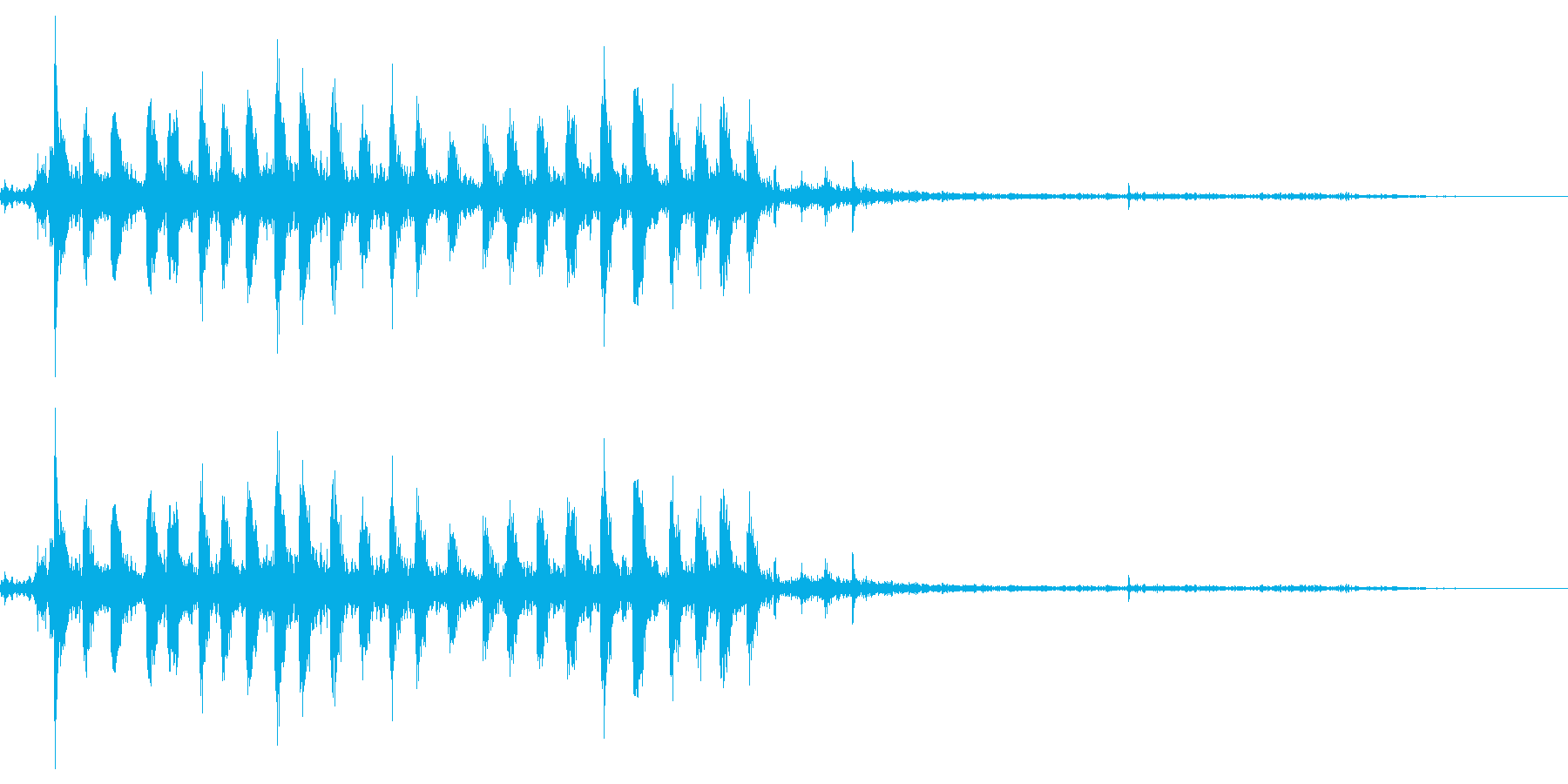 【銃声音002】マシンガンの音の再生済みの波形