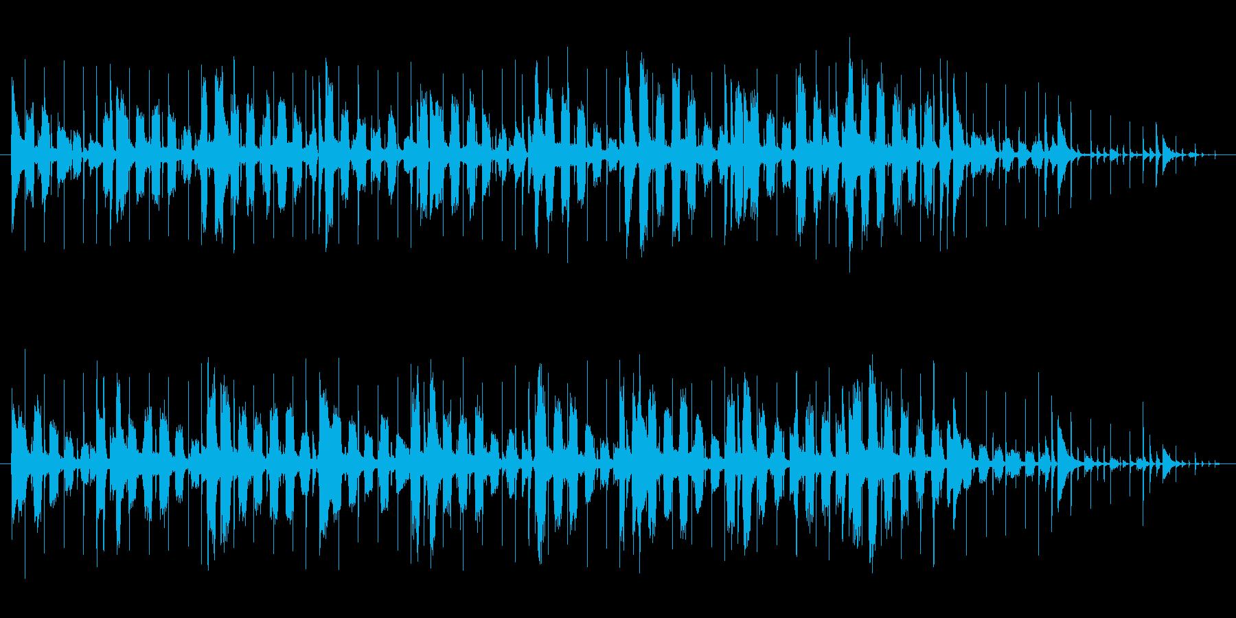 怪しげな雰囲気、RhosePianoの再生済みの波形