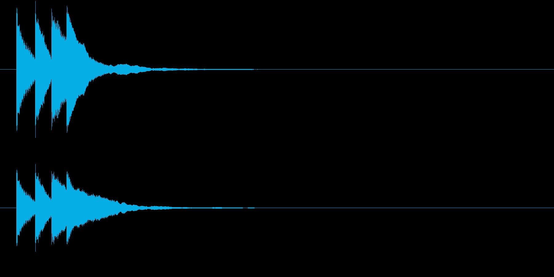 キラリン キラキラ 星 グロッケン の再生済みの波形