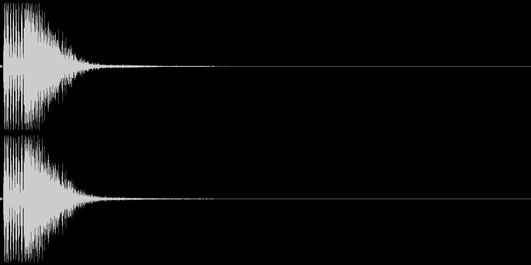 パンチ02(ボムッ)の未再生の波形